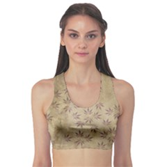 Parchment Paper Old Leaves Leaf Sports Bra