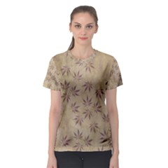 Parchment Paper Old Leaves Leaf Women s Sport Mesh Tee