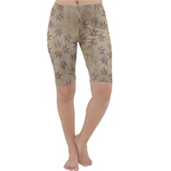 Parchment Paper Old Leaves Leaf Cropped Leggings