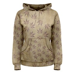Parchment Paper Old Leaves Leaf Women s Pullover Hoodie