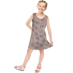 Parchment Paper Old Leaves Leaf Kids  Tunic Dress