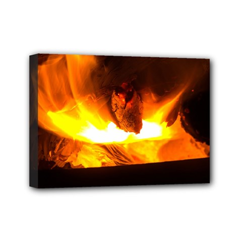Fire Rays Mystical Burn Atmosphere Mini Canvas 7  X 5