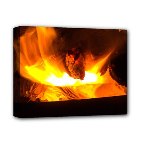 Fire Rays Mystical Burn Atmosphere Deluxe Canvas 14  X 11