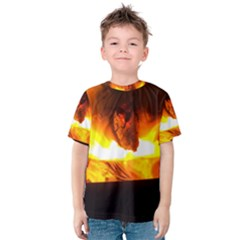 Fire Rays Mystical Burn Atmosphere Kids  Cotton Tee