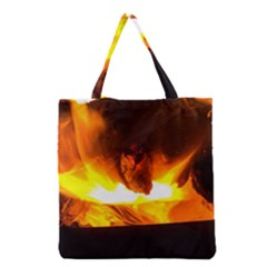 Fire Rays Mystical Burn Atmosphere Grocery Tote Bag
