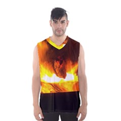 Fire Rays Mystical Burn Atmosphere Men s Basketball Tank Top