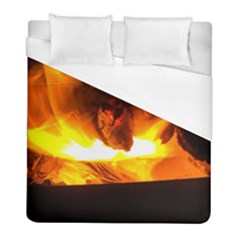 Fire Rays Mystical Burn Atmosphere Duvet Cover (full/ Double Size)