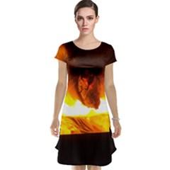 Fire Rays Mystical Burn Atmosphere Cap Sleeve Nightdress