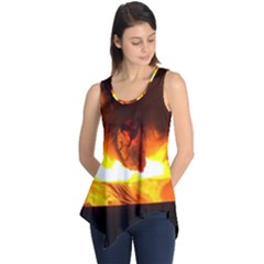 Fire Rays Mystical Burn Atmosphere Sleeveless Tunic