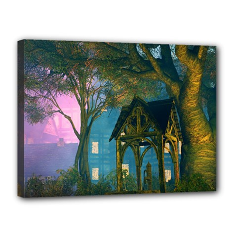 Background Forest Trees Nature Canvas 16  X 12