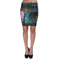 Background Forest Trees Nature Bodycon Skirt
