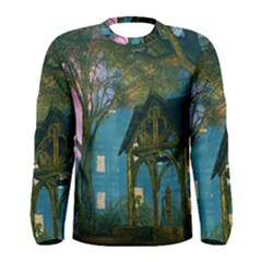 Background Forest Trees Nature Men s Long Sleeve Tee