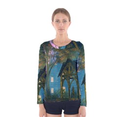 Background Forest Trees Nature Women s Long Sleeve Tee