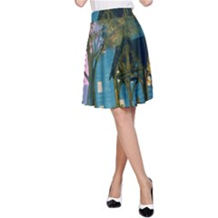 Background Forest Trees Nature A Line Skirt