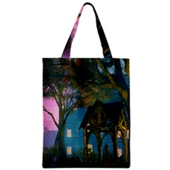 Background Forest Trees Nature Zipper Classic Tote Bag