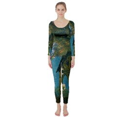 Background Forest Trees Nature Long Sleeve Catsuit