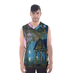 Background Forest Trees Nature Men s Basketball Tank Top