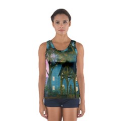 Background Forest Trees Nature Women s Sport Tank Top