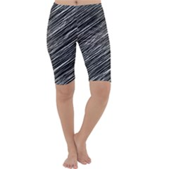 Background Structure Pattern Cropped Leggings