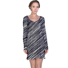 Background Structure Pattern Long Sleeve Nightdress