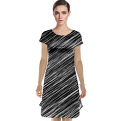 Background Structure Pattern Cap Sleeve Nightdress