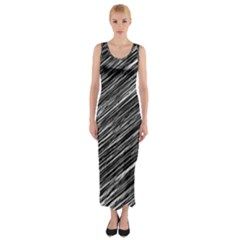 Background Structure Pattern Fitted Maxi Dress