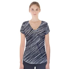Background Structure Pattern Short Sleeve Front Detail Top