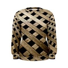 Texture Wood Flooring Brown Macro Women s Sweatshirt