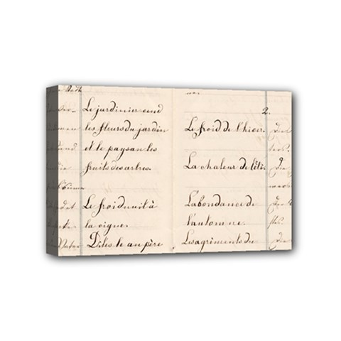 German French Lecture Writing Mini Canvas 6  X 4