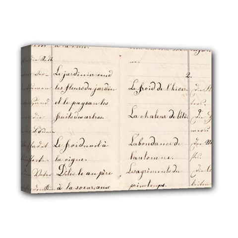 German French Lecture Writing Deluxe Canvas 16  X 12