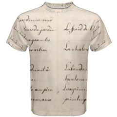German French Lecture Writing Men s Cotton Tee