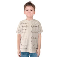 German French Lecture Writing Kids  Cotton Tee