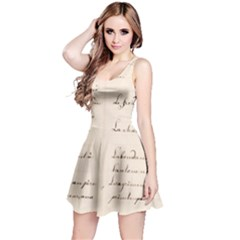 German French Lecture Writing Reversible Sleeveless Dress