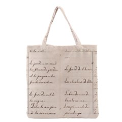 German French Lecture Writing Grocery Tote Bag