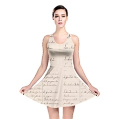 German French Lecture Writing Reversible Skater Dress