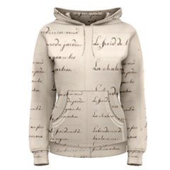 German French Lecture Writing Women s Pullover Hoodie