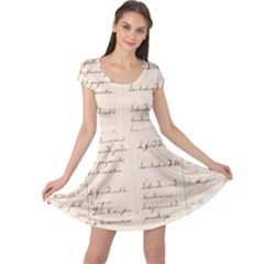 German French Lecture Writing Cap Sleeve Dresses