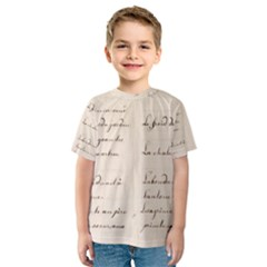 German French Lecture Writing Kids  Sport Mesh Tee