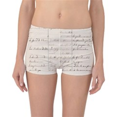 German French Lecture Writing Reversible Boyleg Bikini Bottoms