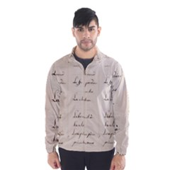 German French Lecture Writing Wind Breaker (men)
