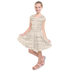 German French Lecture Writing Kids  Short Sleeve Dress