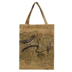 Birds Figure Old Brown Classic Tote Bag