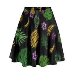 Tropical Pattern High Waist Skirt