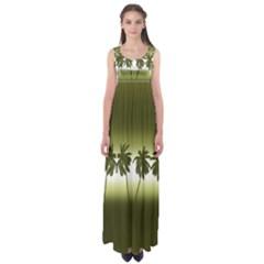 Tropical Sunset Empire Waist Maxi Dress