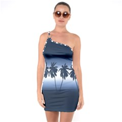 Tropical Sunset One Soulder Bodycon Dress