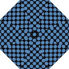Circles2 Black Marble & Blue Colored Pencil Golf Umbrella