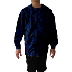Skin1 Black Marble & Blue Grunge Hooded Wind Breaker (kids)
