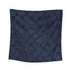 Circles2 Black Marble & Blue Grunge Square Tapestry (small)