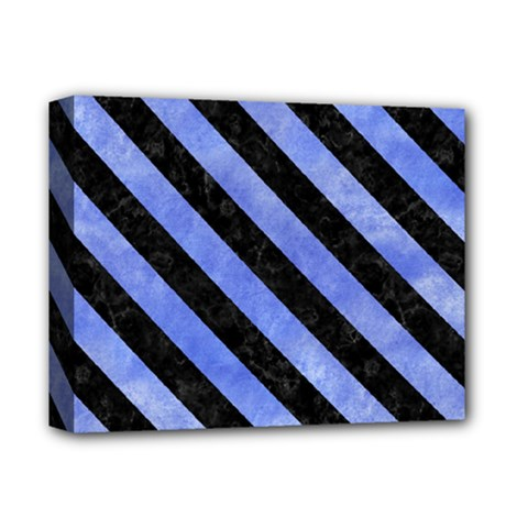 Stripes3 Black Marble & Blue Watercolor (r) Deluxe Canvas 14  X 11  (stretched)