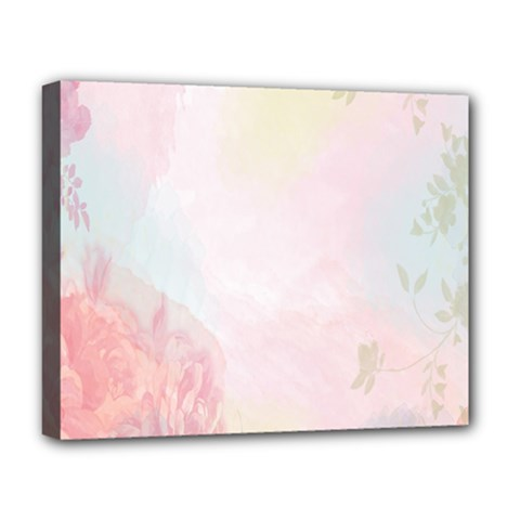 Watercolor Floral Deluxe Canvas 20  X 16